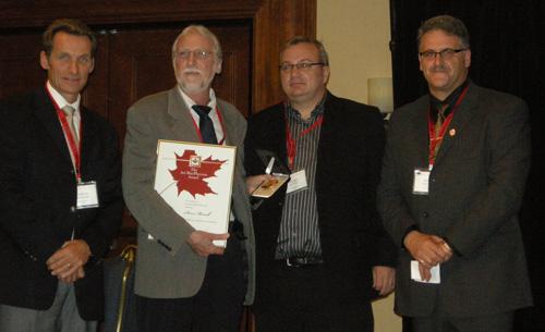 Steve receives Art MacPherson award